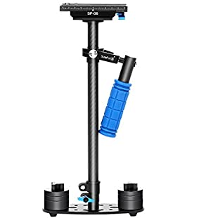"Sutefoto Carbon Fiber SF-06 Handheld Camera Stabilizer Steadicam with Quick Release Plate 1/4"" and 3/8"" Screw for Nikon Canon Sony and Other DSLR Cameras up to 6.6lbs/3kg"