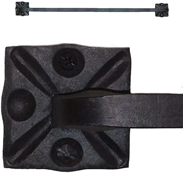 Adobe Wrought Iron Towel Bar Rack Holder 24