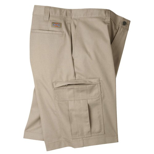 Dickies Men's Premium Industrial Cargo Short, Desert Sand, 30' Waist Size, 11' Inseam