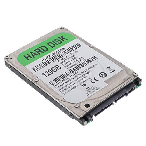 Almencla Disco Duro Mecanico HDD 250GB SATA 2 8M Unidad de Disco Duro Interna de Alto Rendimiento para Computadora - 120GB