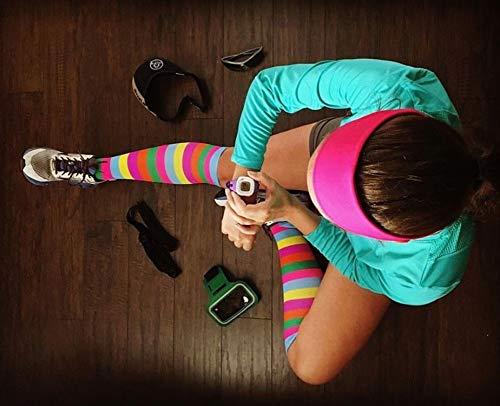 Go2 Compression Socks for Men Women Nurses Runners| Medium Compression Stockings (Polka,S)