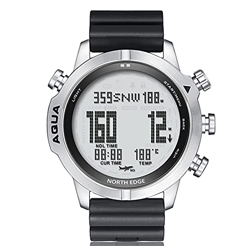 WMB Herren Tauchen Computer Uhr Wasserdicht 100M Intelligent Digital Frei Tauchuhr Höhenmesser Barometer Kompass Temperatur Uhr,B