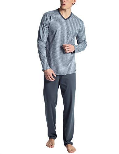 Calida Herren Relax Streamline 2 Zweiteiliger Schlafanzug, Grau (Lavender Grey 352), Small (Herstellergröße: S)