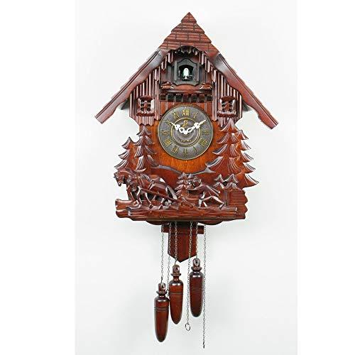 WWFF Reloj De Pared De Madera Del Reloj De Pared De Cuco Nave Del Reloj Del Reloj De La Pared Del Reloj De Tilo Tamaño De Los Relojes De Carillón Del Reloj De Cuco Continental Vendimia De 50 * 41 * 18