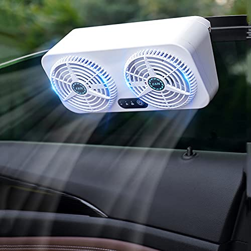 LJJ Ventilador de Coche USB Enchufe en el Encendedor de Cigarrillos, con 3 Velocidades Doble del Coche Ventilador Potente, para Vehículos Automóviles