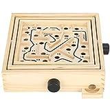 Estink Tilt Maze Game, Juegos de Gran Laberinto de Madera con 60 Agujeros, Juego de Rompecabezas para Adultos, niños y niñas