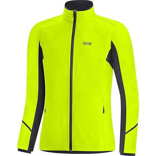 GORE WEAR R3 Damen Jacke Partial GORE-TEX INFINIUM, 38, Neon-Gelb/Schwarz
