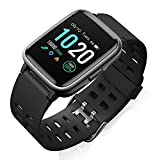 FitFort Smart Watch for Android and iOS Phone 2019 Version IP68 Waterproof, Fitness Tracker Watch with Heart Rate Monitor, Pedometer, Sleep Monitor, Calorie Counter, Smartwatch Compatible with SAMSUNG