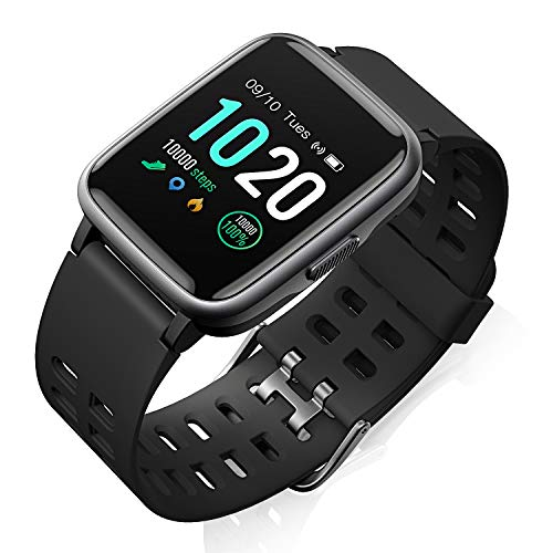 Fitness Smart Watch HR Activity Tracker Watch - 1.3'' Touch Screen Waterproof Watch for Android iOS Phone with Heart Rate Monitor, Pedometer, Sleep Monitor, Calorie Counter for Kids, Women and Men