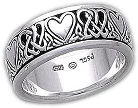Sterling Silver Celtic Heart Knot Spinner Ring(Sizes 4,5,6,7,8,9,10,11,12,13,14,15)