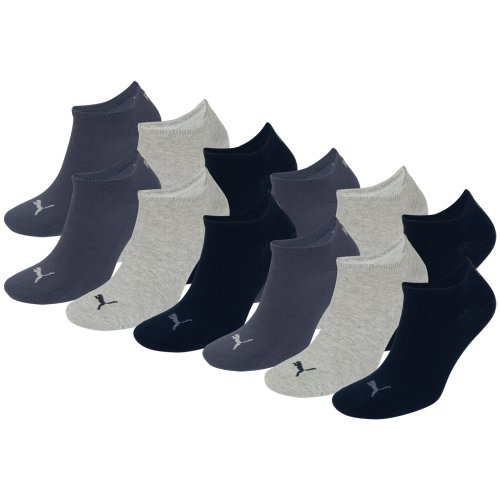 PUMA Unisex Sneakers Socken Sportsocken 12er Pack Navy/Grey/Nightshadow Blue 532-43/46