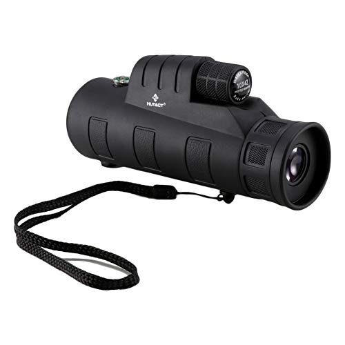 HD 10x Monocular, 10X42 Best Monocular Telescope, BAK7 Prism FMC Lens Light Weight Waterproof Scope for Bird-Watching, Travel, Concert, Sports, Outdoor