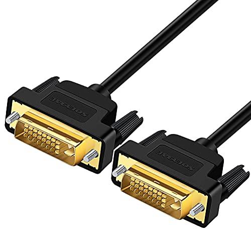 SOEYBAE DVI ケーブル DVI-D 24+1デュアルリンクケーブル、2560x1600@60HZ高解像度、ディスプレイ、プロジェクター、HDTV等に適用 1M