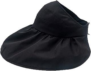 Wxcgbnstym قبعة الشمس، 1 قطعة مكافحة الأشعة فوق البنفسجية فارغة أعلى الشمس القبعات للنساء، لشاطئ الصيف. (اللون : أسود)