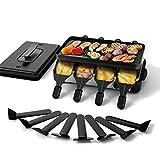 Muchen 1200W Raclette Grill mit Deckel zum elektrischen Grillen,Tischgrill Elektrisch für 8...