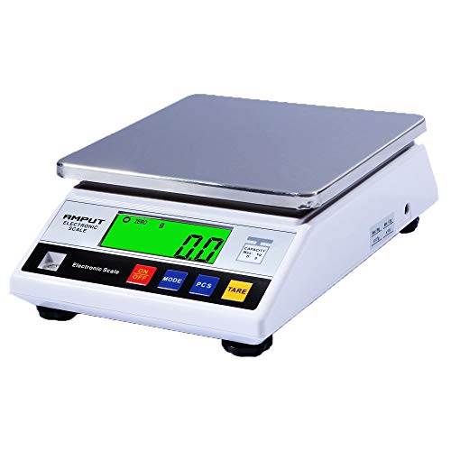 High Precision 10kg x 0.1g Digital Accurate Electronic Balance Lab Scale Laboratory Weighing Industrial Scale Kitchen Scale Scientific Scale Counting Scale (10kg, 0.1g)