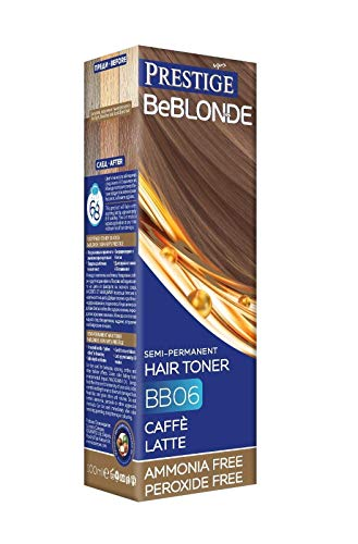 Vip's Prestige BeBlonde Tinte Semi Permanente, Cafe Latte BB06, Sin Amoniaco Sin Peroxide