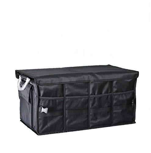 J- Organiseurs Pour Voiture Pliable Cargo Trunk Organizer Grande Capacité De Stockage Lavable Avec Poignées Boîte De Rangement Voiture (Color : Black)