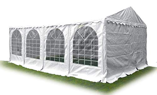 Ambisphere Premium Party Tent 550 g/m² PVC Tarpaulin Garden Tent/Marquee/Beer Tent Waterproof UV Resistant and Fire Retardant Various Sizes in White