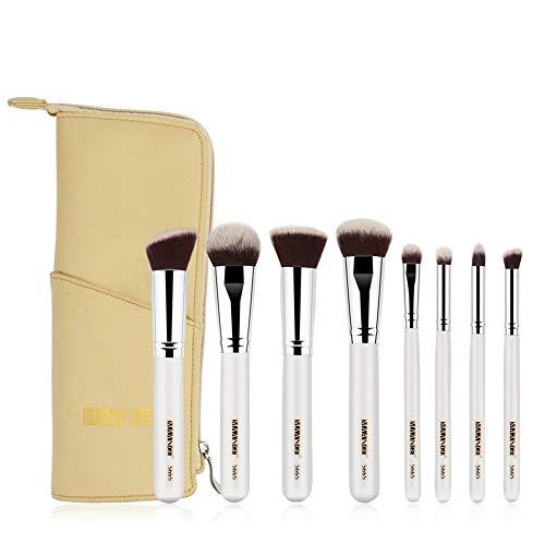 Dtuta Kit De Brosse De Maquillage,8Pcs Maquillage Pinceaux Poudre Base Fard à PaupièRes Fard à PaupièRes Pinceau CosméTique LèVre