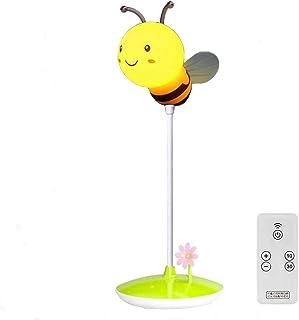 Agaga LED luz nocturna Honeybee silicona con mando a distancia inalámbrico para niños dormitorio