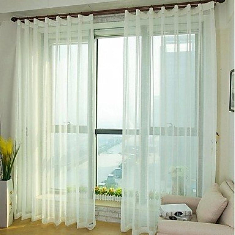 hasta 42% de descuento CLL Sheer Cruz Cruz Cruz sintética lino pantallas SHEER cortina (dos Panel)  mejor calidad mejor precio