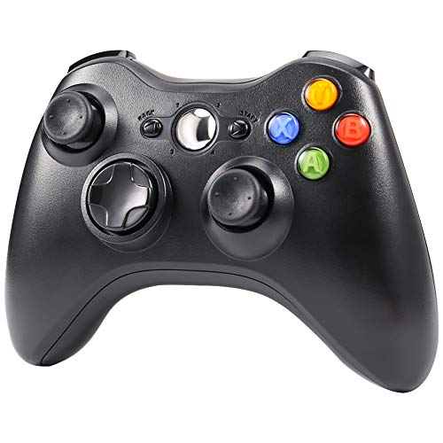 CrazyFire Wireless Controller for Xbox 360 Wireless Gamepad with 2.4GHz Receiver for Xbox 360,PS3,PC Windows 7/8/10,Android(Black)