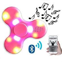 Led Fidget Spinner with BLUETOOTH SPEAKER LIGHT HAND FIDGET SPINNER TOY EDC PINK