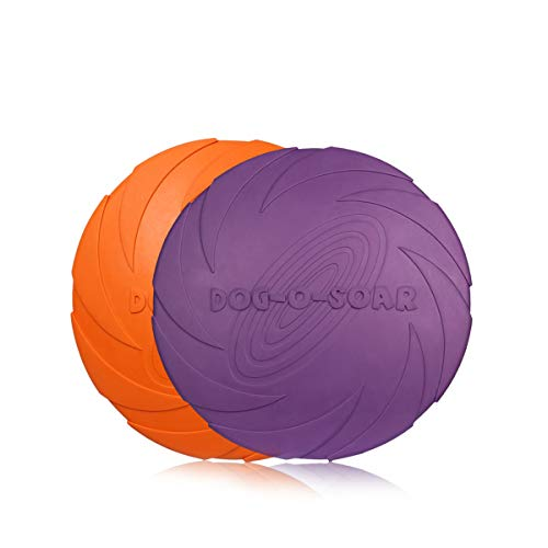 PETCUTE Frisbee per Cani Giochi con Cani Disc Frisbee Ultra Resistente 2 Pezzi ø 20 cm