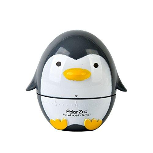 Besttimes Netter Pinguin, der Eieruhr für das Kochen -60 Minuten mechanischer drehender Küchen-Timer kocht