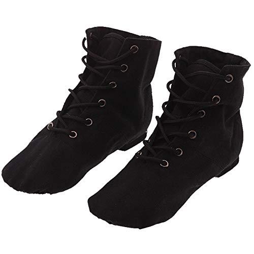 KINDOYO Tanzstiefel - Ballettschuhe Hohe Schnürsenkel Canvas Tanzschuhe Trainingsschuhe Schnürschuhe Kinder Erwachsene, rot, 27 EU