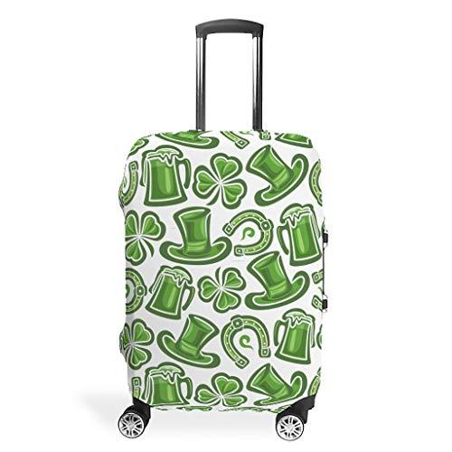 Funda protectora para maletas de viaje de San Patricio, fácil de identificar, 4 tamaños, apto para muchos maletines de equipaje, White (Blanco) - STELULI-XLXT-24