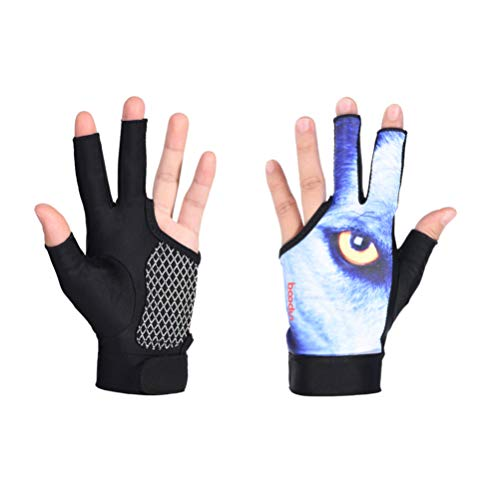Why Should You Buy Exceart 1 Pair Snooker Gloves Anti Slip Three Fingers Billiard Gloves Elastic Bre...
