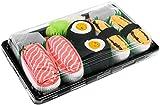Rainbow Socks - Donna Uomo Calzini Sushi Tamago Salmone Oshinko Maki - 3 Paia - Taglia 41-46