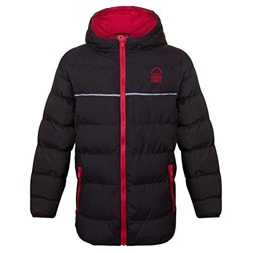 Nottingham Forest FC - Plumífero acolchado oficial con capucha - Para niño - 8-9 años