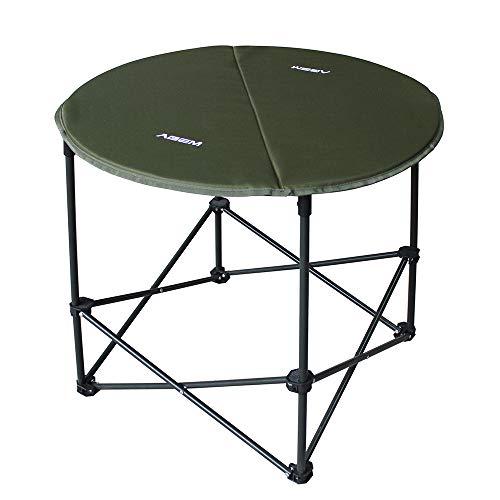 AGEM Campingtisch Rund Klappbar Klein Anglertisch Faltbar Tisch im Freien Camping Table Round Strandtisch 71x62cm