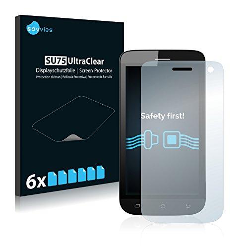 Savvies 6X Schutzfolie kompatibel mit Archos 40 Helium Bildschirmschutz-Folie Ultra-transparent