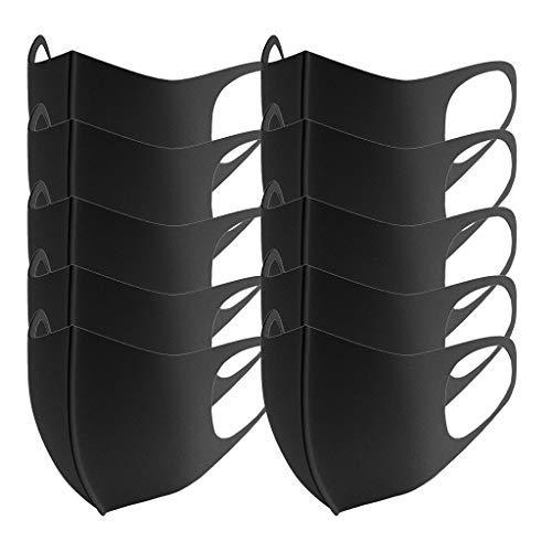 Preisvergleich Produktbild ererthome erthome Erwachsene im Freien Winddicht Schwarzes Gesicht Schal Gesicht Bandana,  Packung mit 10 Stück