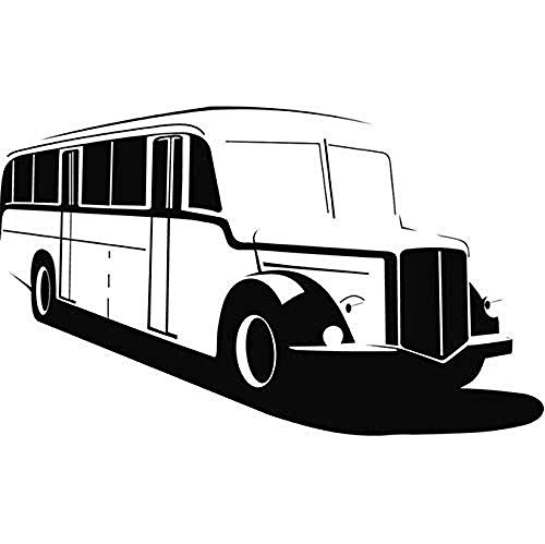 Retro Bus School Bus Pegatinas De Pared Coche Van Pegatinas De Pared Transporte Arte Decorativo Calcomanía No Tóxico Pvc Wallpaper Design Mural 53X83Cm
