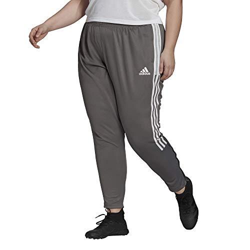 adidas womens Tiro 21 Track Pants Team Grey /White 2X