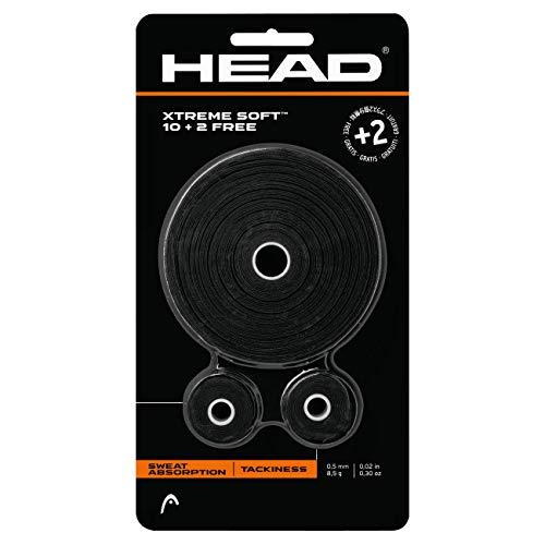HEAD Unisex-Erwachsene Xtremesoft 10+2 Griffband, schwarz, Einheitsgröße