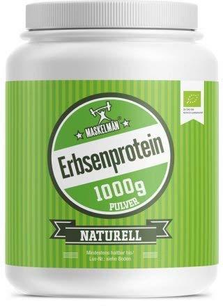 Maskelmän - Bio Erbsenprotein Pulver - Proteinpulver - Eiweisspulver inkl. Aller Essentiellen Aminosäuren - Zum Muskelaufbau - Reich an Lysin, Arginin, Calcium & Eisen - Naturell - 1000g