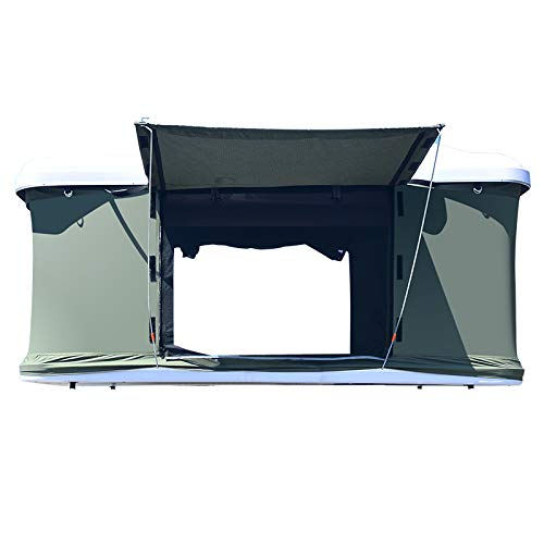 Haige Car Roof Tent, Outdoor Self-Driving Tour, Double Car Hard Shell Tent, Rainproof and Warm,Pop-up roof Tent, Suitable for car, Truck, SUV, Camping, Travel, Mobile