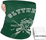 Sly-Therin Har-Ry P-Otter - Bandanas unisex con trabillas para orejas, pasamontañas para el polvo con filtros, diadema, cubierta facial con 6 filtros