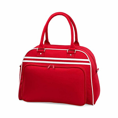BagBase Retro Bowling Bag 1er Pack Classic Red / White