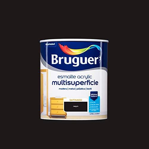 Bruguer Acrylic Multisuperficie Esmalte al agua Satinado Negro 750 ml