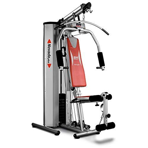 BH Fitness Nevada Plus G119XA - Stazione multifunzione, Tensione max equivalente a 100 Kg  con puleggie e cams, carenata