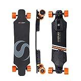 EnSkate R3 Electric Longboard Skateboard ,22 MPH Top Speed, 900W Dual Motor, 22Miles Range, 9 Layers Maple Longboard with Wireless Remote Control