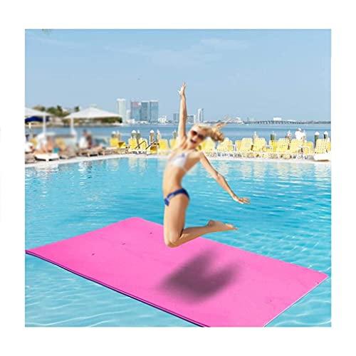 9 pies x 3 pies tapete flotante, almohadilla de espuma de agua recreación y relajación para piscina playa lago río agua flotante alfombra con almohada de cabeza de bricolaje para adultos y niños
