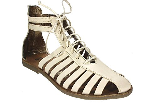 Momino Bolivia Burro Leder Sandale Reißverschluss Größe 34